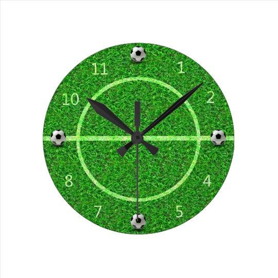 Bola del campo de fútbol del fútbol - reloj de
