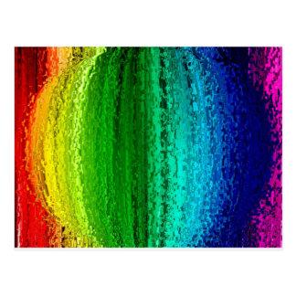 Bola del color del arco iris postal
