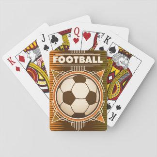 Bola del deporte del fútbol del fútbol barajas de cartas