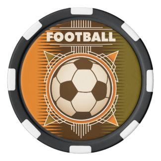 Bola del deporte del fútbol del fútbol fichas de póquer