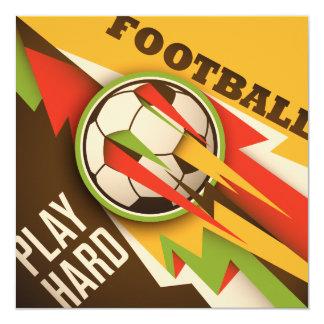 Bola del deporte del fútbol del fútbol invitación 13,3 cm x 13,3cm