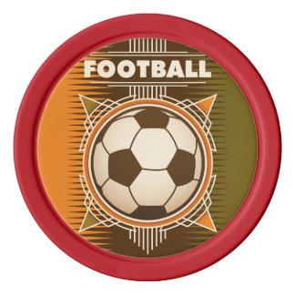 Bola del deporte del fútbol del fútbol juego de fichas de póquer