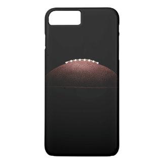 Bola del fútbol americano en fondo negro funda para iPhone 8 plus/7 plus