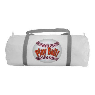 ¡Bola del juego! Bolso del gimnasio del béisbol Bolsa De Deporte