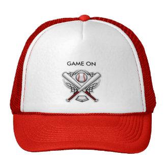 Bola del juego de la gorra de béisbol