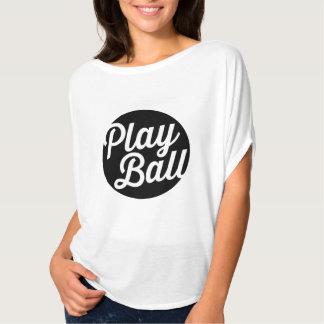 ¡Bola del juego! La camiseta de las mujeres