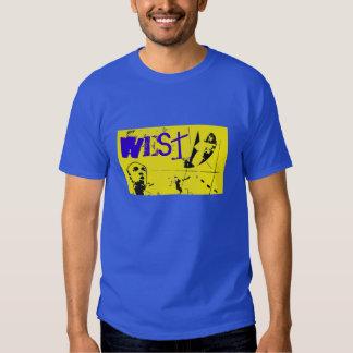Bola del oeste de la cesta All-star Camisetas