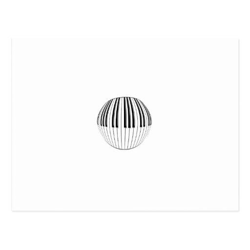 Bola del piano tarjeta postal