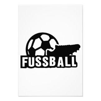 Bola del zapato del fútbol de Fussball Comunicados Personales