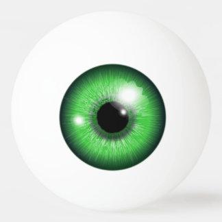 Bola divertida de los tenis de mesa del iris verde