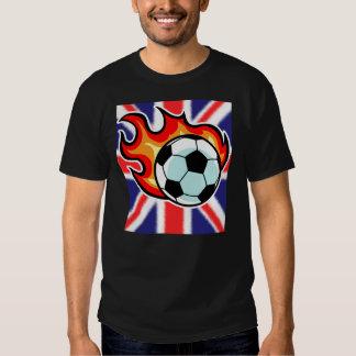 Bola llameante Union Jack Camisetas