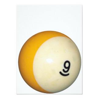 Bola nueve invitación 13,9 x 19,0 cm