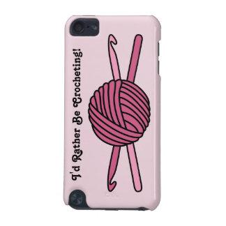 Bola rosada de los ganchos del hilado y de ganchil funda para iPod touch 5G