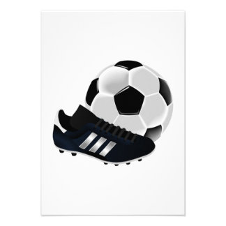 Bola y listones de fútbol anuncios personalizados