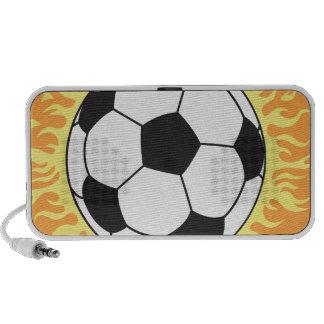 bola y llamas de fútbol iPhone altavoz