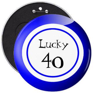 Bolas afortunadas del bingo de los números chapa redonda 15 cm