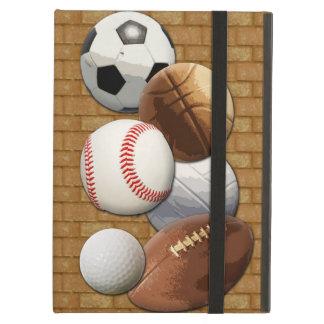 Bolas All-star de los deportes con la pared de lad