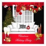 Bolas blancas rojas de la celebración de días fest invitación personalizada