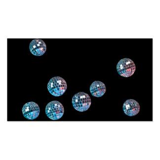 bolas de discoteca en espacio vacío tarjetas de visita