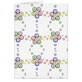 Bolas del bingo tarjeta de felicitación