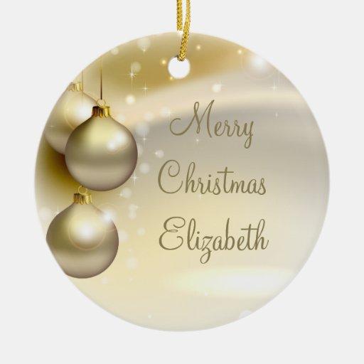 Bolas del navidad del oro en el oro adorno de reyes