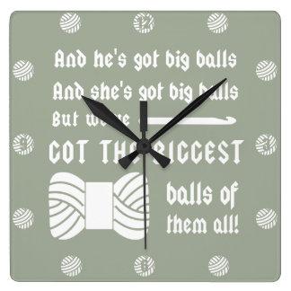 Bolas grandes del hilado • Sitio del arte del Reloj Cuadrado