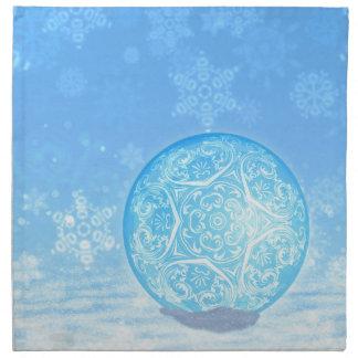 Bolas ornamentales 3 de Navidad Servilleta De Tela