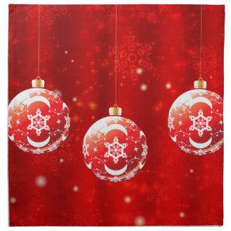 Bolas ornamentales 4 de Navidad Servilleta De Tela