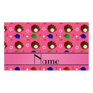 Bolas rosadas conocidas personalizadas de los tarjeta de negocio