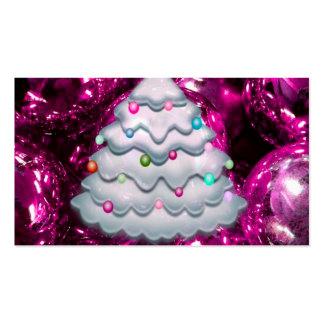 Bolas y árbol, Burdeos del navidad Tarjetas De Visita