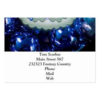 Bolas y árbol del navidad, azules plantillas de tarjetas de visita