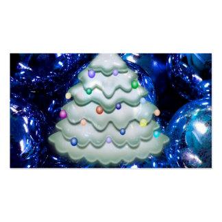 bolas y árbol del navidad azules