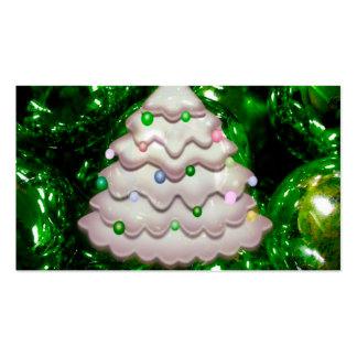 Bolas y árbol del navidad, verdes plantillas de tarjeta de negocio