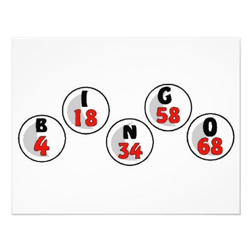 Bolas y números del bingo comunicados personales
