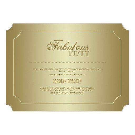 Boleto con clase elegante el | cincuenta fabulosos anuncios personalizados