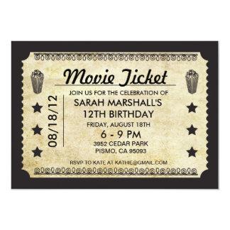 Boleto de la película invitación 12,7 x 17,8 cm