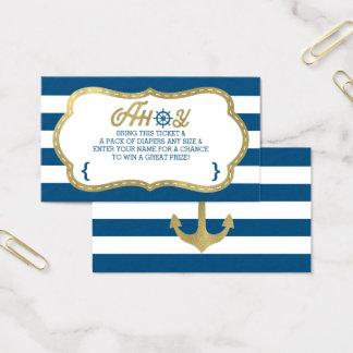 Boleto de la rifa del pañal, Ahoy, oro náutico, Tarjeta De Negocios