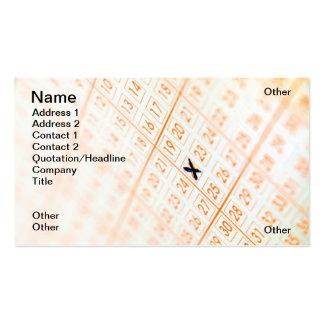 Boleto de lotería tarjetas de visita