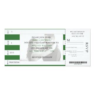 Boleto del béisbol invitación 10,1 x 23,5 cm