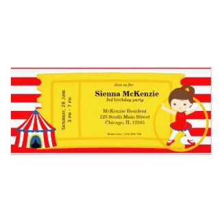 Boleto del cumpleaños del circo