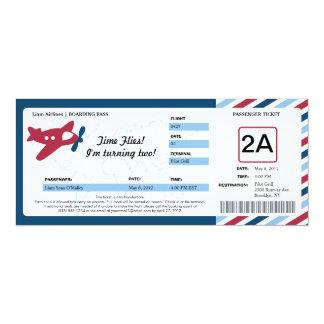 Boleto del documento de embarque del cumpleaños invitación 10,1 x 23,5 cm