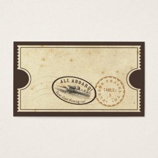 Boleto del vintage - tarjeta del acompañamiento