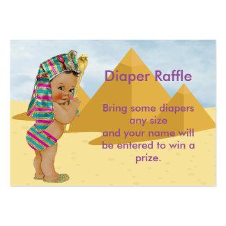 Boleto egipcio de la rifa de la fiesta de tarjetas de visita grandes