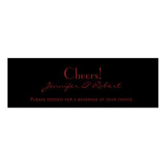 Boleto gótico de la bebida del boda del damasco ro tarjetas personales