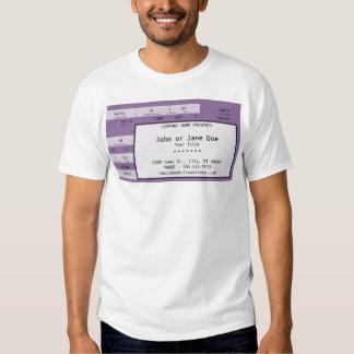 boleto púrpura del concierto camiseta