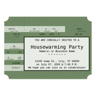 boleto verde del concierto del estreno de una casa comunicado personal
