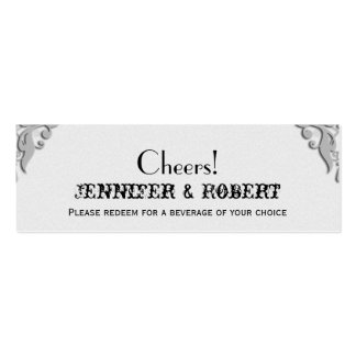 Boletos de herradura de plata de la bebida del bod tarjetas personales