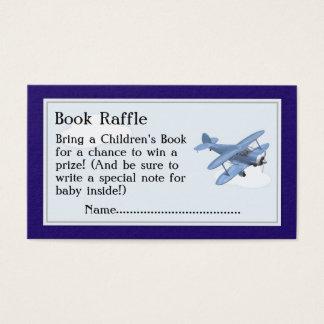 Boletos de la rifa del libro del aeroplano, juego tarjeta de visita