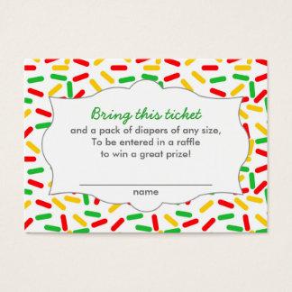 Boletos de la rifa del pañal de la fiesta de tarjeta de negocios