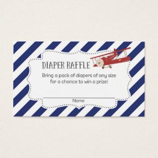Boletos de la rifa del pañal de la fiesta de tarjeta de visita